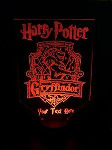 BIG PERSONALISE HARRY POTTER LIGHT LAMP MULTI-COLOR LED USB BASE