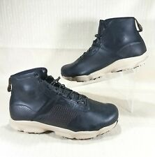 Under Armour Speedfit Hike Leather Mid Boots Men's Size 10 Black 1276371-001