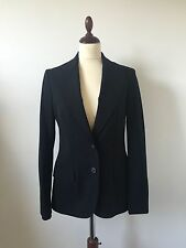 Gucci Uniform Black Wool Two Buttons Single Vent Fully Lined Trouser Suit Sz 40