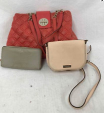 3 Piece Lot Of Kate Spade Hand/Shoulder Bag Purses + Wallet