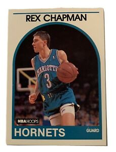 1989 NBA Hoops #54 Rex Chapman Rookie Hornets Autographed 1st ever college pick