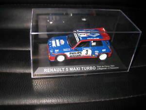 1.43 RENAULT 5 MAXI TURBO TOUR DE CORSE 1985 RAGNOTTI / THIMONIER #3  UNBOXED