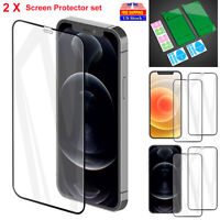 2 X Full Coverage Screen Protector Soft Film Cover For iPhone 12 Pro Max 12 mini