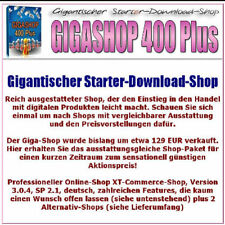 GIGASHOP 400 PLUS Starter Download Shop Paket XT Giga Online Webshop 1A E-Lizenz