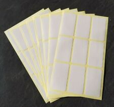 72 White Sticky Self Adhesive Stickers Labels Tags File Jar Blank Plain Files