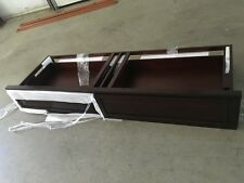 2 Pottery Barn Farmhouse under storage bed side rails drawers Cal King espresso