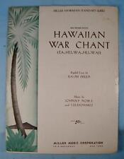 Hawaiian War Chant Ta Hu Wa Hu Wai Sheet Music Vintage 1940 Johnny Noble (O)