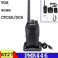 Retevis RT27 Walkie talkies 2way radio PMR446 CTCSS DCS encryption VOX TOT Scan