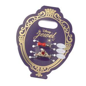 Disney Store Japan Princess Snow White Red Apple Bow Gold Ring Set Adjustable