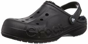 Crocs Men's and Women's Baya Lined Clog, Black/Black, Size 14.0 9Pnx