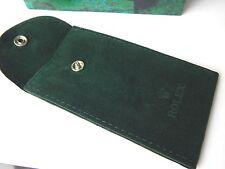 Brand New Genuine Rolex Dark Green Velvet Watch  Storage Pouch Bag
