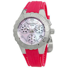 TechnoMarine Cruise Medusa Chronograph Pink Pearl Dial Ladies Watch 115085