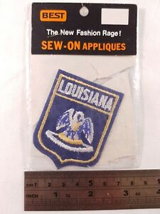 Vintage Louisiana Patch Superdome New Orleans Team USA America Saints Hornets