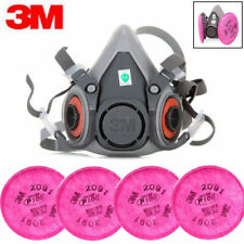 3M 6200 Spray Paint Dust Gas Mask respirator w/ 4Pack 3M 2091 P100 Filters !