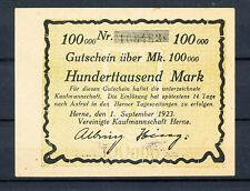 Herne - Vereinigte Kaufmannschaft Herne - 100 Tausend Mark