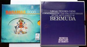 Bahamas 2000 Millennium Coin Set + Bermuda 1984 Coin Set
