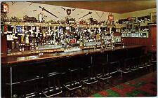 SAN FRANCISCO, CA California  THE WINNER ITALIAN  Bar Interior Postcard