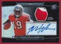 MIKE WILLIAMS RC 2010 TOPPS PLATINUM ROOKIE PATCH AUTO #45/99 AUTOGRAPH RPA