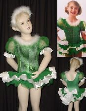 HOLLY Green Dance Costume Christmas Ballet Tutu and Gloves Child X-Small New