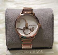 Brand New Michael Kors Rose-Gold tone Portia Women's Watch MK3825