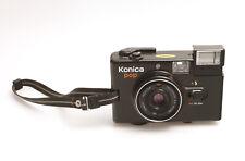 Konica POP in Schwarz analoge Kleinbildkamera mit Hexanon 36mm F4