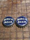 Vintage Bottle Caps (2) Birch Beer