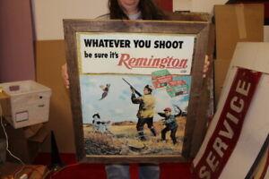"Remington Shotgun Gun Duck Goose Shell Hunting Gas Oil 25"" Metal Sign"