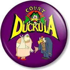 "COUNT DUCKULA 1"" Pin Button Badge Old School Cartoon Retro Kids TV Vampire 1980s"
