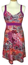 Prana size small athletic dress sleeveless bra purple orange paisley v neck