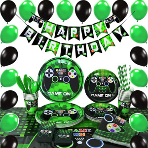 Video Game Party Supplies - Gaming Party Decoration Boys Birthday Party...