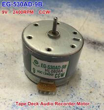 DC EG-530AD-9B 9V 2400RPM CCW Capstan Tape Deck Recorder Audio Spindle Motor