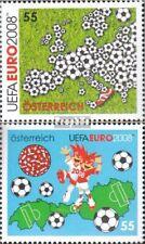 Austria 2709-2710 mint never hinged mnh 2008 Football-european championship