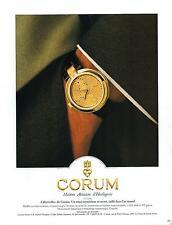 ▬► PUBLICITE ADVERTISING AD WATCH MONTRE CORUM Labyrinthe 1993