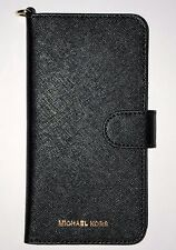 "Michael Kors Saffiano Leather Wallet Folio Case for iPhone 7 Plus (5.5"") - Black"