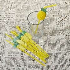 10pcs 3D Pineapple Plastic Drinking Straws Birthday Wedding Pool Party Decor Pip