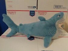 "20"" Bruce Blue Talking Great White Shark Plush Disney Finding Nemo Open Mouth"