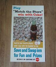 1967 COCA COLA CARDBOARD BASEBALL PLAYERS BOTTLE CAP COUNTER TOP SIGN