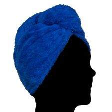 Pealu - 1x Fleece Head IN Dark Blue, Fluffy Turban-Handtuch