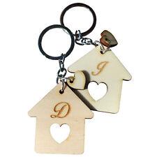 Coppia Portachiavi Lui Lei Legno Casa Coppia Matrimonio Amore Home House Lettere