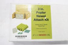 Stair Parts Railing Unfinished Poplar Newel Attachment 3 x 3 9400P-300-HD00L