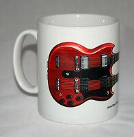 Guitar Mug. Jimmy Page's Gibson EDS-1275 illustration.