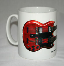 Guitar Mug. Jimmy Page's Gibson EDS-1275 illustration.