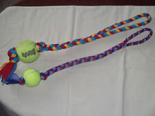 Fleece Tug Tuggy Dog Toy with Tennis Ball Training Obedience Agility Flyball HTM