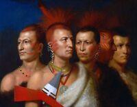 "1821- Charles Bird King, Native American Indians, antique decor, 20""x16"" ART"
