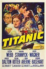 TITANIC CLASSIC MOVIE POSTER 1953 barbara stanwyck DISASTER drama 24X36