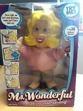 "Ms. Wonderful 12"" Plush Talking Doll - She's so Understanding - Says 14 Phrases"