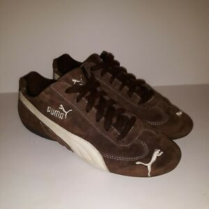 Womans PUMA Speed Cat Suede Driving Shoes Tennis Size 8 W Brown Sneaker Vtg.   Z