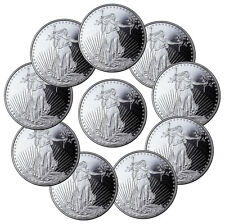 Highland Mint 1 oz Silver Saint-Gaudens Design Round - Lot of 10 Rounds SKU45170