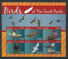 TUVALU  2015  BIRDS OF THE SOUTH PACIFIC  2 SHEETS UNMOUNTED MINT, MNH