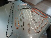 joblot bundle vintage/semi precious stones costume etc jewellery clearance